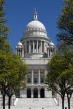 Vista delantera de la casa del estado de Rhode Island Imagen de archivo libre de regalías
