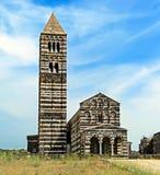 Vista delantera de la iglesia del saccargia, Cerdeña Fotografía de archivo libre de regalías