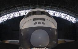 Vista delantera de la lanzadera de espacio Fotos de archivo libres de regalías
