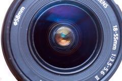 Vista delantera de la lente de cámara Foto de archivo libre de regalías