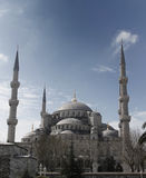 Vista delantera de la mezquita azul, Estambul, pavo Imágenes de archivo libres de regalías