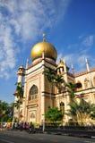 Vista delantera de la mezquita del sult?n, Singapur 2 Foto de archivo
