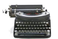 Vista delantera de la máquina de escribir portable de la vendimia Fotografía de archivo libre de regalías