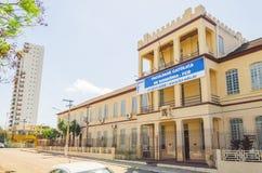 Vista delantera de la universidad Faculdade Catolica de Rondonia FCR foto de archivo libre de regalías