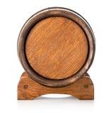 Vista delantera de un barril en soporte Foto de archivo libre de regalías