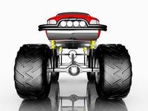 Vista delantera de un monster truck Imagen de archivo libre de regalías