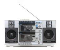 Vista delantera de un Pla de la cinta de cassette del rectángulo de auge de la vendimia Fotografía de archivo libre de regalías