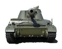 Vista delantera de un tanque aislado Imágenes de archivo libres de regalías