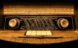 Vista delantera de una radio alemana vieja Imagenes de archivo