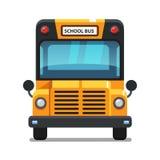 Vista delantera del autobús escolar amarillo Fotos de archivo libres de regalías