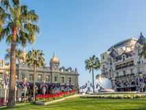 Vista delantera del casino de Monte Carlo, Mónaco Fotografía de archivo libre de regalías