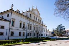 Vista delantera del chalet Valmarana Morosini en Altavilla Vicentin Imágenes de archivo libres de regalías