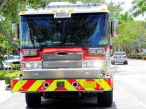 Vista delantera del coche de bomberos, la Florida Fotografía de archivo