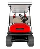 Vista delantera del coche del golf aislada en blanco representación 3d Imagen de archivo