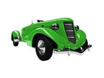 Vista delantera del coche verde de la vendimia stock de ilustración