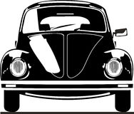 Vista delantera del escarabajo de VW Imagen de archivo