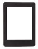Vista delantera del lector del eBook con la pantalla cortada Fotografía de archivo