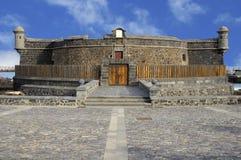 Vista delantera del negro del castillo en Santa Cruz de Tenerife Foto de archivo libre de regalías