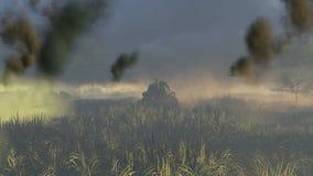 Vista delantera del tanque T 34 rusos libre illustration