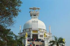 Vista delantera del templo de Dhauli fotografía de archivo libre de regalías