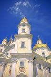 Vista delantera la catedral de Dormition Pochayiv Lavra Imágenes de archivo libres de regalías