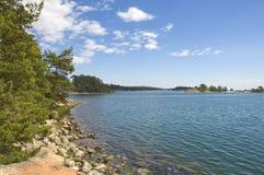 Vista dell'acqua Fotografia Stock Libera da Diritti