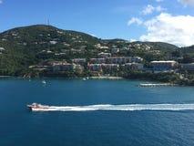 Vista dell'acqua dell'isola fotografia stock