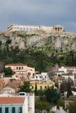 Vista dell'acropoli, Atene Fotografia Stock Libera da Diritti