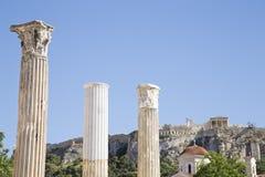 Vista dell'acropoli fotografie stock libere da diritti