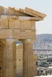 Vista dell'acropoli di Atenas Grecia Fotografie Stock Libere da Diritti