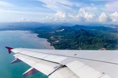 Vista dell'aeroplano Fotografie Stock