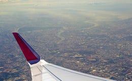 Vista dell'aeroplano Immagini Stock