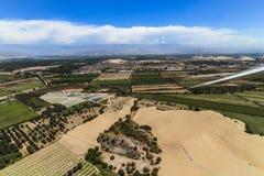 Vista dell'aeroplano dell'area al suolo dopo il decollo dall'aeroporto di Las Dunas fotografia stock libera da diritti