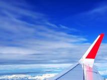 Vista dell'aeroplano dalla finestra Immagine Stock