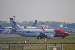 Vista dell'aeroporto di Okecie a Varsavia Fotografia Stock Libera da Diritti