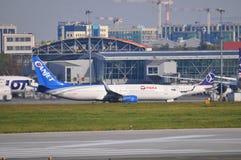 Vista dell'aeroporto di Okecie a Varsavia Fotografie Stock