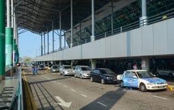 Vista dell'aeroporto di Penang, Malesia fotografie stock