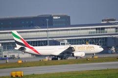 Vista dell'aeroporto di Varsavia Chopin Fotografia Stock