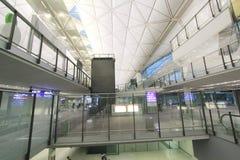 Vista dell'aeroporto internazionale di Hong Kong Fotografia Stock Libera da Diritti