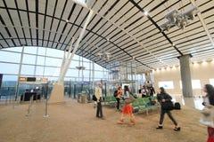 Vista dell'aeroporto internazionale di Hong Kong Fotografie Stock Libere da Diritti