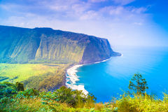 Vista dell'affioramento e dell'oceano Immagini Stock