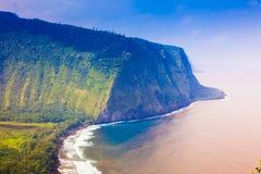 Vista dell'affioramento e dell'oceano Fotografie Stock Libere da Diritti