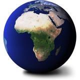 Vista dell'Africa sul globo Fotografia Stock