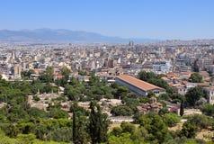 Vista dell'agora antico Fotografie Stock Libere da Diritti