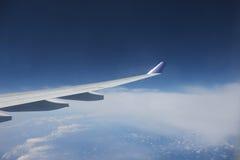 Vista dell'ala dell'æreo a reazione Fotografia Stock Libera da Diritti