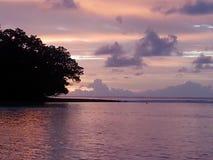 Vista dell'alba in Diego Garcia fotografia stock