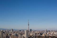 Vista dell'albero del cielo di Tokyo Fotografie Stock Libere da Diritti