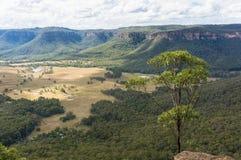 Vista dell'allerta del paesaggio della valle della montagna Immagini Stock Libere da Diritti