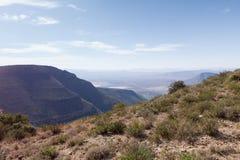 Vista dell'allerta della montagna - paesaggio di Graaff-Reinet Immagini Stock