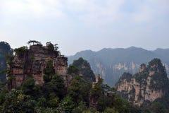 Vista dell'allerta mentre facendo un'escursione intorno all'area scenica di Wulingyuan Che a Fotografie Stock Libere da Diritti